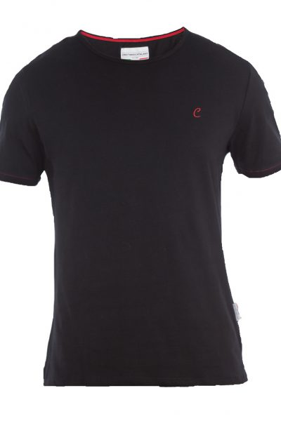 Puristisches T-Shirt in schwarz